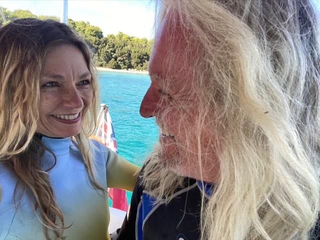 Rick and Sarah snorkel
