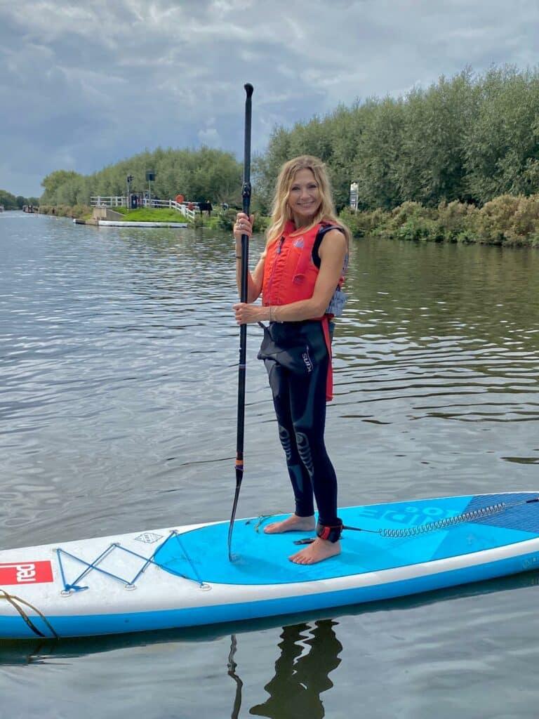Sarah on Paddleboard