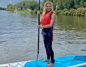 sarah paddle board